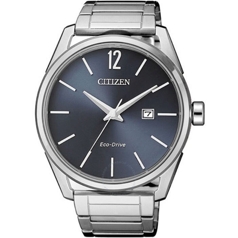 Citizen Eco-Drive Blue Dial Stainless Steel Mens Watch BM7411-83H