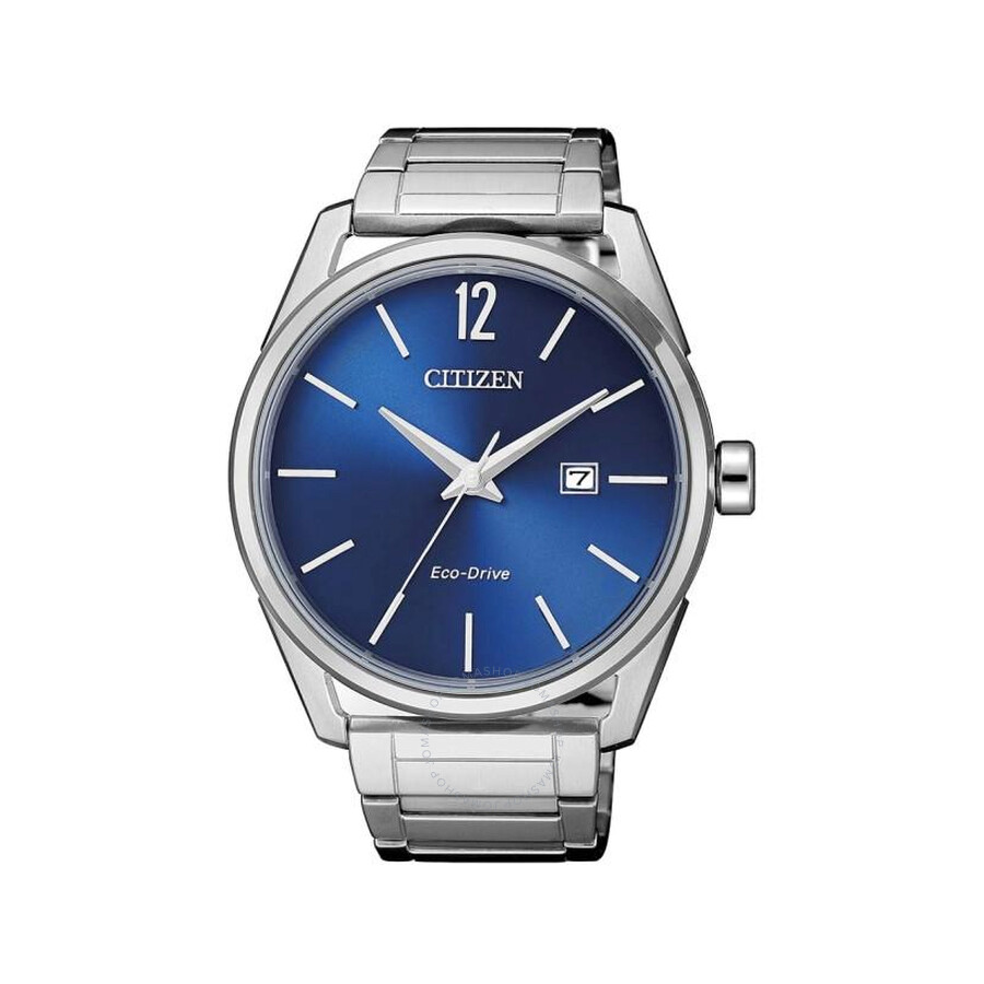 Citizen Eco-Drive Blue Dial Stainless Steel Mens Watch BM7411-83L
