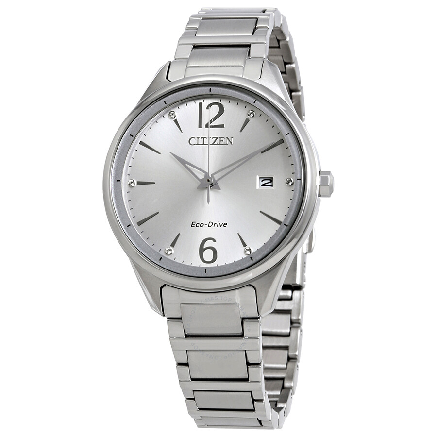 Citizen Chandler Silver Dial Stainless Steel Ladies Watch FE6100-59A