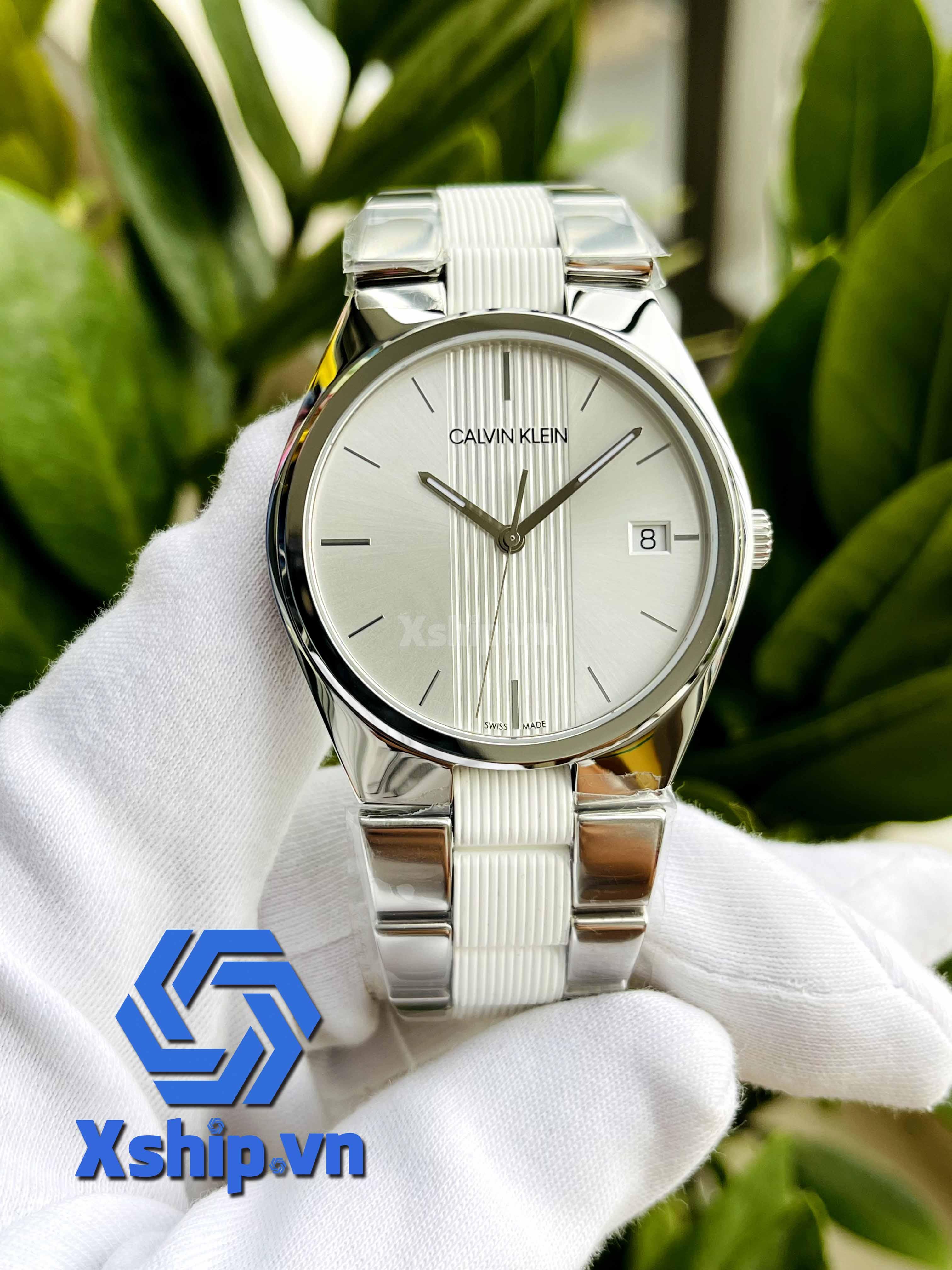 Calvin Klein Contra Quartz Silver Dial Ladies Watch K9E211K6