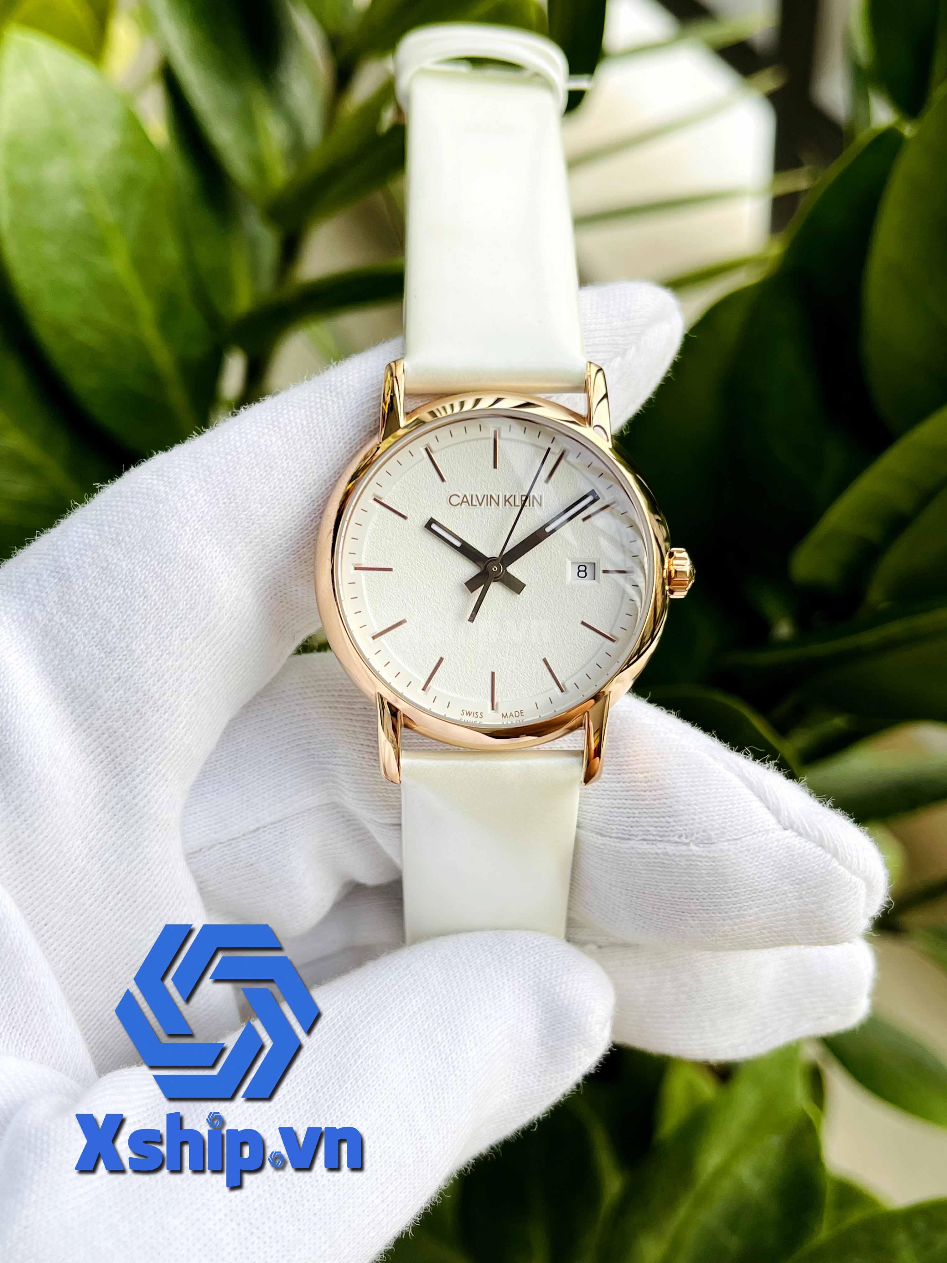 Calvin Klein Established Quartz Silver Dial Ladies Watch K9H236L6